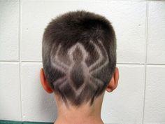 Spider hair tattoo