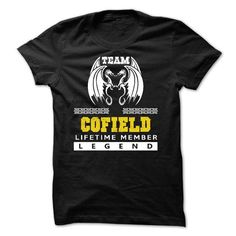 Team COFIELD lifetime member T Shirts, Hoodies, Sweatshirts. GET ONE ==> https://www.sunfrog.com/LifeStyle/EXCLUSIVE-Team-COFIELD-lifetime-member-2015-MK64T01.html?41382