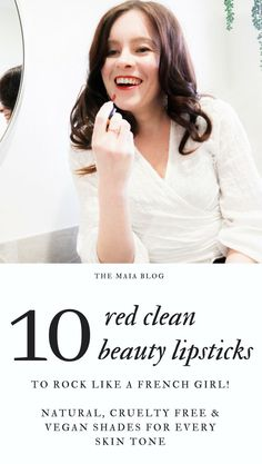 These are the best natural, cruelty free and vegan red lipsticks. Rock them like a French Girl, with shades to suit every skin tone. Clean Beauty, Beauty Skin, Hair Beauty, Editorial Hair, Vegan Makeup, Acne Skin, Red Lipsticks, Organic Beauty, Videos