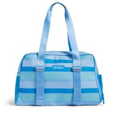 The Lighten Up Yoga Sport Bag may be the only gym bag you'll ever need. It features a side zip pocket that's perfect for shoes and adjustable side straps to hold a yoga mat. The exterior features a side mesh pocket, a front slip pocket and a long pocket on the back that features a magnetic closure, and the interior features five more mesh pockets.