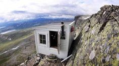 Mountaintop cabin built byArne Næss in 1942 inHallingskarvet, Norway.