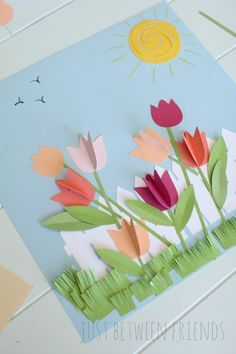 Spring Paper Flower Garden Craft for Kids