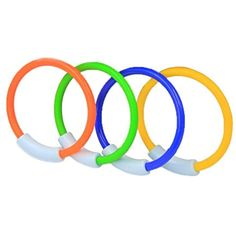 WOTOW Dive Rings, 4 Piece Plastic Diving Rings Underwater Swimming Toy Rings Dive Training Gift for Boy Girl Students Recreation Play Summer Pool Toy Assorted Colors Dive Rings Kids Pool Water Game Summer Pool, Summer Kids, Mermaid Pool, Underwater Swimming, Kid Pool, Pool Toys, Game 4, Water Games, Pool Water