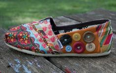 fabric covered TOMS...possible DIY??
