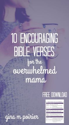 Encouraging Bible Verses | Overwhelmed Moms
