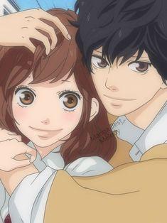 Mibuchi/Tanaka Kou and Yoshioka Futaba Ao Haru Ride Anime Chibi, Anime In, Manga Anime, Anime Shows, Kawaii Anime, Futaba Y Kou, Futaba Yoshioka, Manga Love, Anime Love
