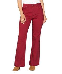 Rumba Red Flare-Leg Jeans - Plus Too