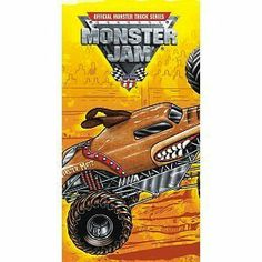 0874feb568 This plastic Monster Jam tablecover has all over coverage and measures 54