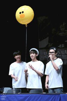 BTS j-hope,jungkook et jimin