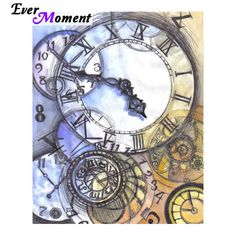 Choose from our featured collection of diamond painting kits. Éphémères Vintage, Vintage Images, Clock Drawings, Art Drawings, Art Steampunk, Wallpaper Animes, Clock Art, Gcse Art, Decoupage Paper
