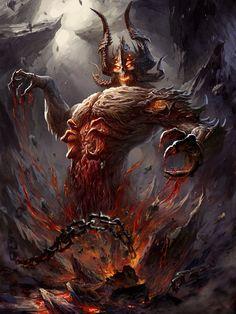 It Rises Fantasy Demon, Fantasy Monster, Monster Art, High Fantasy, Dark Fantasy Art, Fantasy Artwork, Dark Art, Dark Creatures, Magical Creatures