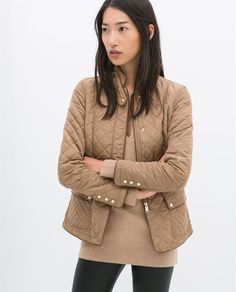 Image 1 of QUILTED JACKET WITH PIPING from Zara