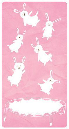 Jumping bunnies illustration by erika_b, via Flickr