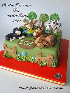 FARM ANIMAL CAKE - EGE BIRTHDAY CAKE by CAKE BY NESRİN TONG, via Flickr