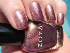 three coats of Zoya Faye.