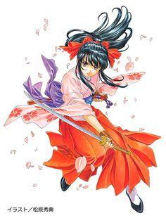 Sakura Wars, Female Samurai, Character Art, Character Design, Harley Quinn Comic, Sonic Art, King Of Fighters, Japanese Outfits, Yandere