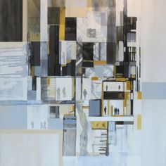 """""""Stacked Living"""" by Lisa Chandler Contemporary Art, Lisa, Diagram, Artist, Painting, Artists, Painting Art, Paintings, Painted Canvas"""