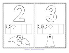 FREE This is a set of numbers and 10-frames 0-10 with a Halloween theme. There are 2 versions, one with the 10-frames filled in, and one without. 13 pages