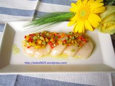 Scallop with garlic & vegetables