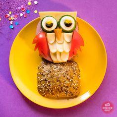 Fun Food Karneval Brötchen Partysnacks Eule