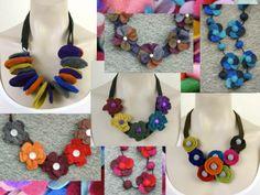 Zacht en zeer licht - Mooie halssieraden van vilt…