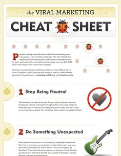 The Viral Marketing Cheat Sheet Viral Marketing, Internet Marketing, Online Marketing, Social Media Marketing, Digital Marketing, Business Inspiration, Copywriting, Ecommerce, Online Business