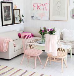 woonhome-vintage-spijlenstoelen-pastel-kleur-trend2016-zacht-licht-roze