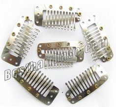 10 Teeth Silver Steel Clips for Hair Extensions 20pcs #hairextensiontools #diy #clipins #clip