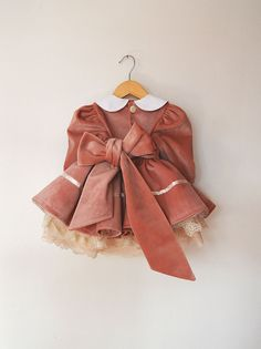 Blush Velvet Party Dress with Petticoat and Ivory Bows Baby Pageant Dresses, Baby Girl Party Dresses, Dresses Kids Girl, Baby Dress, Kids Outfits Girls, Girl Outfits, Baby Girl Fashion, Kids Fashion, Dress For Girl Child