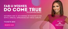 Giuliana Rancic to host fashion show for Fab-U-Wish at Westfield Mall - TICKETS ON SALE NOW