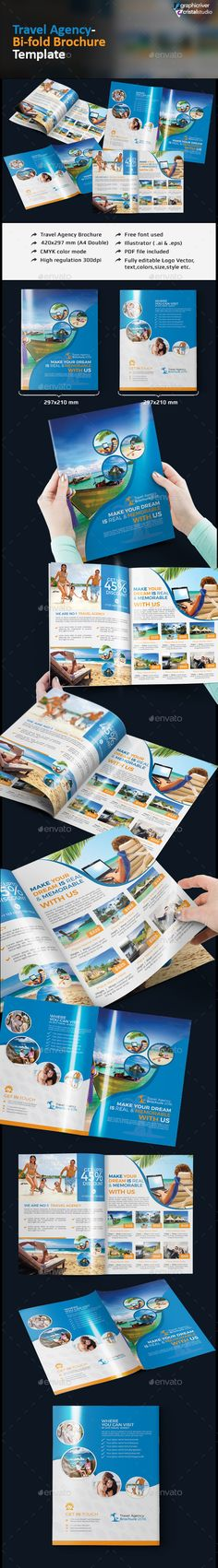 buy brochure templates - tourism service trifold brochure template tri fold