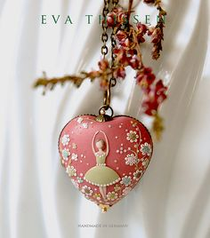 The Dancer. Original signed wearable art. Hand made polymer clay pendant. by Eva Thissen Gallery, via Flickr.