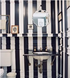 Paint stripes over millwork for depth and dimension....