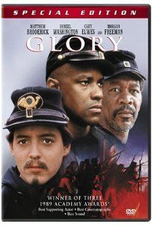 Directed by Edward Zwick. With Matthew Broderick, Denzel Washington, Cary Elwes, Morgan Freeman. Robert Gould Shaw leads the US Civil War's first all-black volunteer company, fighting prejudices of both his own Union army and the Confederates. Cinema Tv, Films Cinema, I Love Cinema, Denzel Washington, Old Movies, Great Movies, Love Movie, Movie Tv, Movies Showing
