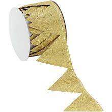 Stoffband Ziehstern, gold, 5 cm, 2,5 m