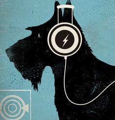 Scottie registros Scottish Terrier estilo gráfico por geministudio
