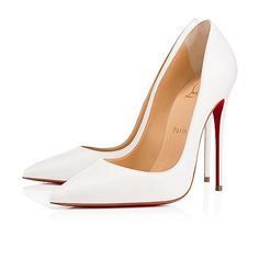 """So Kate"" is a Christian Louboutin signature style known for her pointed toe and superfine stiletto heel. At 120mm, this single-sole pump in lustrous latte leather is the secret to ensemble perfection."