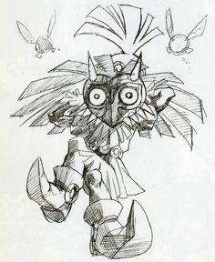Skull Kid - Marjora's Mask Original Concept Art