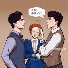 Anne with an E art Gilbert And Anne, Anne White, Anne With An E, Gilbert Blythe, Anne Shirley, Cuthbert, Kindred Spirits, Stuff And Thangs, Film Serie