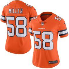 d56866ce1 Nike Von Miller Denver Broncos Women s Orange Color Rush Limited Jersey