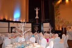 www.lepapillonevents.com, #Flowers #Decor #Planning #Toronto #Vaughan, #Wedding #silver #guest #table #tree #centerpieces at the Eglinton Grand in Toronto