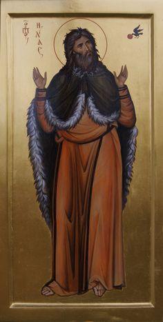 Prophet Elias by Anton & Ekaterina Daineko Orthodox Catholic, Orthodox Christianity, Religious Images, Religious Art, Religion, Byzantine Icons, Art Icon, Old Testament, Orthodox Icons