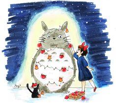 Totoro Kiki's delivery service Christmas