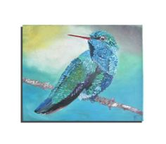 0riginal oilpainting hummingbird on canvas by Blumenmalerei, €28.00