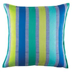 Instil a more timeless look in your décor with the handsome stripe and sweet colour on the woven Leo Cushion from KAS. Striped Cushions, Throw Cushions, Leo, Cushions For Sale, Blue Square, Boutique, Soft Furnishings, Shades Of Blue, Modern Furniture