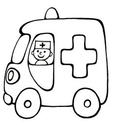 Vehicle coloring pages for babies 15 Colouring Pages, Coloring Sheets, Coloring Books, Drawing Lessons For Kids, Easy Drawings For Kids, Applique Patterns, Applique Designs, Ambulance, Quiet Book Templates