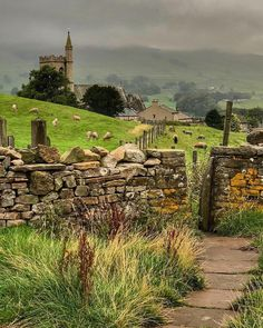 ~Misty Morning over St. Margarets Church at Hawes in the Yorkshire Dales~🍁. ~Misty Morning over St. Margarets Church at Hawes in the Yorkshire Dales~🍁🌿 Beautiful image by Yorkshire Dales, Yorkshire England, North Yorkshire, Cornwall England, England Uk, London England, England Countryside, British Countryside, Beautiful Landscapes