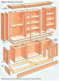 Grand Bookcase Plans - Furniture Plans