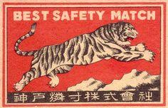 Japanese matchbox, via Pilllpat (Agence Eureka)