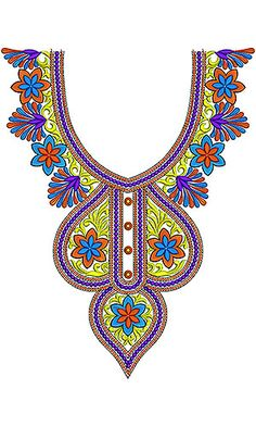 Mexican Lovely Look Embroidery Neck Design